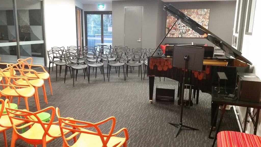 Example concert set-up in the Music Room