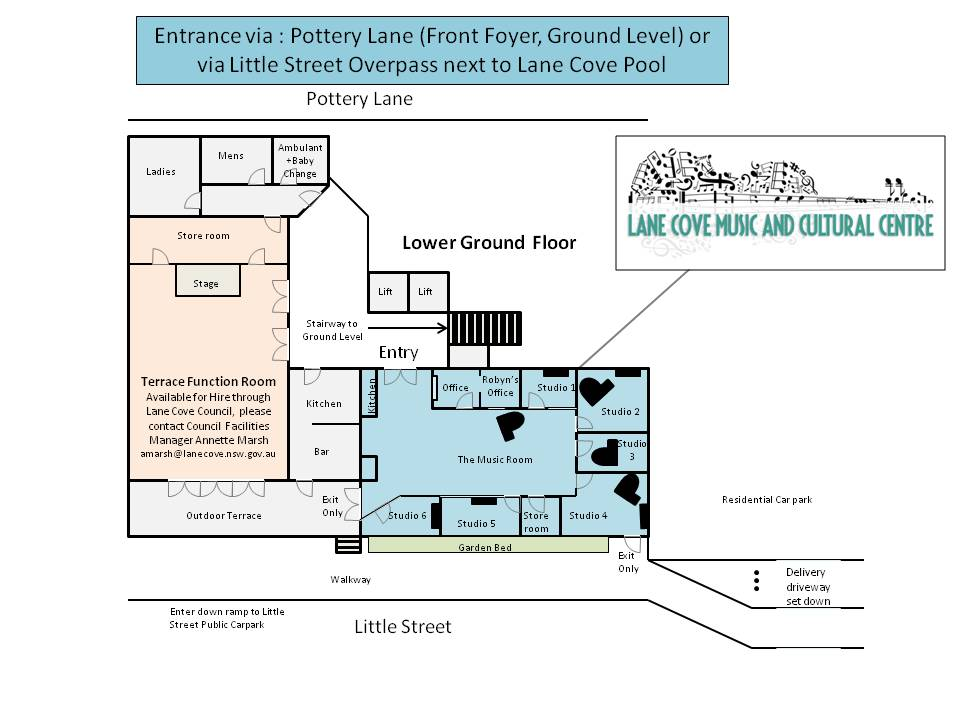 Lane Cove Music and Cultural Centre - Floor Plan